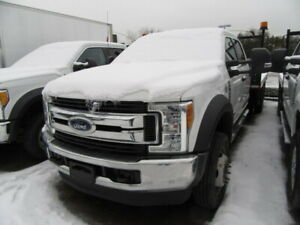2017 Ford F 550 XLT DIESEL 4X4 12 FT FLAT DECK  /  2 AVAILABLE