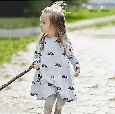 NEW Toddler Infant Kids Girls Baby dress mouse Dresses Clothes Dance wear 1-6Y