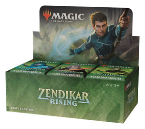 Zendikar Rising Draft Booster Box NEW FACTORY SEALED MTG PRESALE SHIPS 9/25!