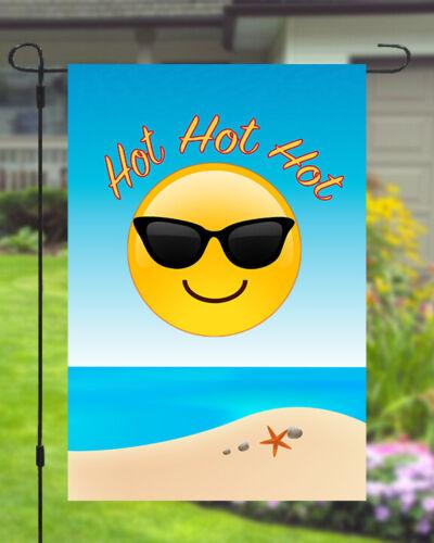 Hot Summer Garden Banner Flag 11X14 To 12x18 Sun Glasses Shades Yard Decor