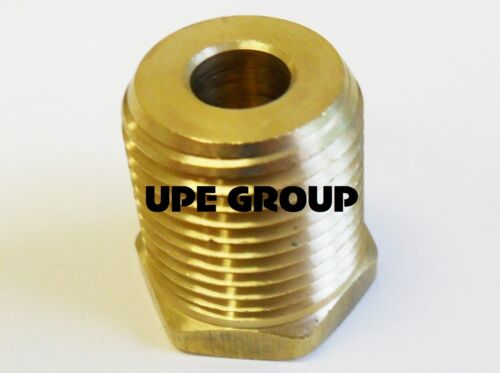 BRASS HEX BUSHING REDUCING NPT THREADS PIPE FITTING 1//2 MALE X 1//8 FEMALE QTY 5