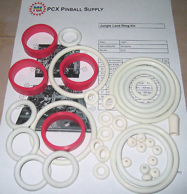 1981 Williams Jungle Lord Pinball Rubber Ring Kit | eBay