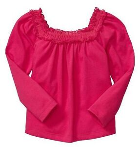 NWT-Baby-GAP-Snow-Brights-Tulle-Ruffle-Rasberry-Swing-Tee-Top-U-Pick-Size-NEW