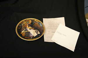 Dreaming-In-The-Attic-Collector-Plate-by-Norman-Rockwell-a-True-Rockwell-Classic