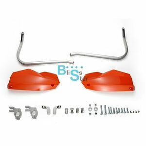 orange aluminium handguards brush bar hand guard for ktm. Black Bedroom Furniture Sets. Home Design Ideas