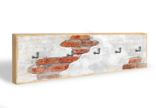 Schlüsselbrett Backsteinmauer 5 Haken