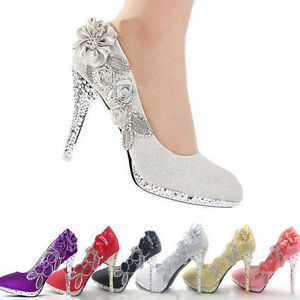 Glitter-Wedding-Bridal-Evening-Party-Crystal-High-Heels-Women-Shoes-Bridesmaid