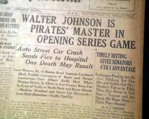 CHRISTY-MATHEWSON-034-Matty-034-New-York-Giants-Baseball-Pitcher-DEATH-1925-Newspaper