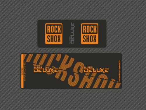 RockShox Super Deluxe RC3 Arrière Choc Autocollant Decal Enduro orange DH