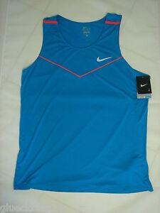 Nike-DriFit-Racing-Singlet-Blau-NEU-GrL-XL-Running-Tank-Tanktop-Laufshirt-Trikot