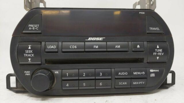 2002 Nissan Altima Am Fm 6 Disc Cd Bose Radio W Aux Mp3 Input 281858j200
