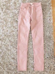 H&M Jeans rosa Skinny Röhre Gr. 34 Hose slim Leggins ...