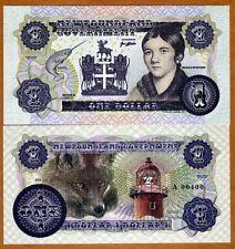 Newfoundland, Canada, $1, 2017, Private Issue, Essay UNC > Shanawdithit, Fox