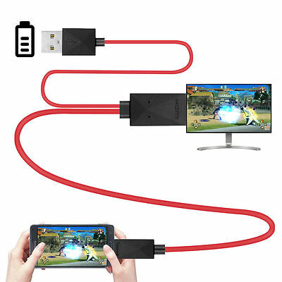USB MHL to HDMI Cable HDTV Adapter for Samsung Galaxy S5/4/3 Note 2/3