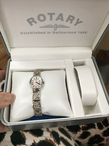 Rotary Watch Ladies Sterling Silver amp Mother Of pearl Never Worn In Box - <span itemprop='availableAtOrFrom'>Bromsgrove, Worcestershire, United Kingdom</span> - Rotary Watch Ladies Sterling Silver amp Mother Of pearl Never Worn In Box - Bromsgrove, Worcestershire, United Kingdom