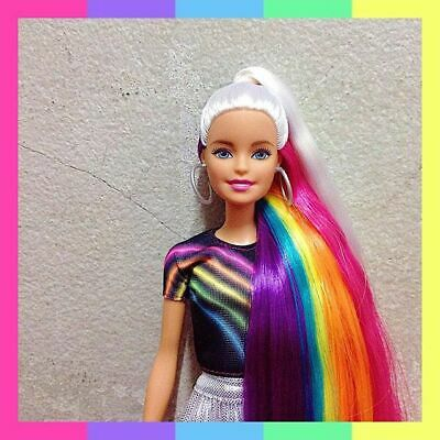 Barbie Doll Rainbow Sparkle Hair Gorgeous Hair and Styling Accessories  Brush Etc | eBay