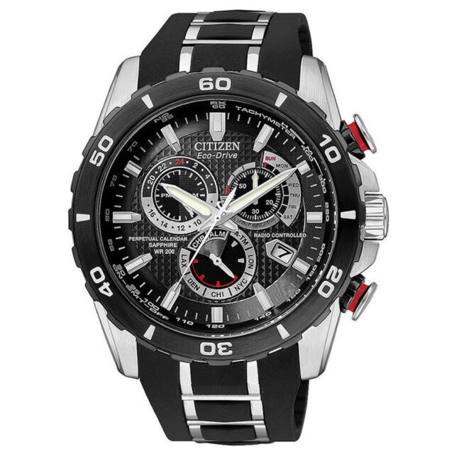 fb1bcc543 Citizen Eco Drive Mens Limited Perpetual Chrono At Two Tone Watch AT4025-01E