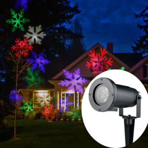 multi color snowflake laser projector lights moving christmas