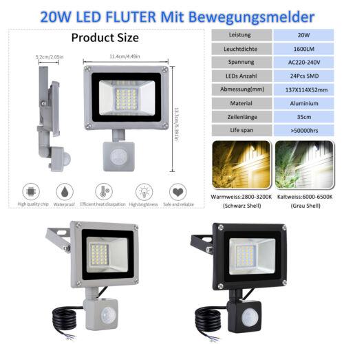 LED Fluter 10~1000W Flutlicht Scheinwerfer Außenstrahler Gartenstrahler IP65