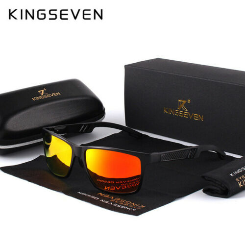 KINGSEVEN Polarized Sunglasses Aluminum Rectangle Shades Magnesium Sun Glasses