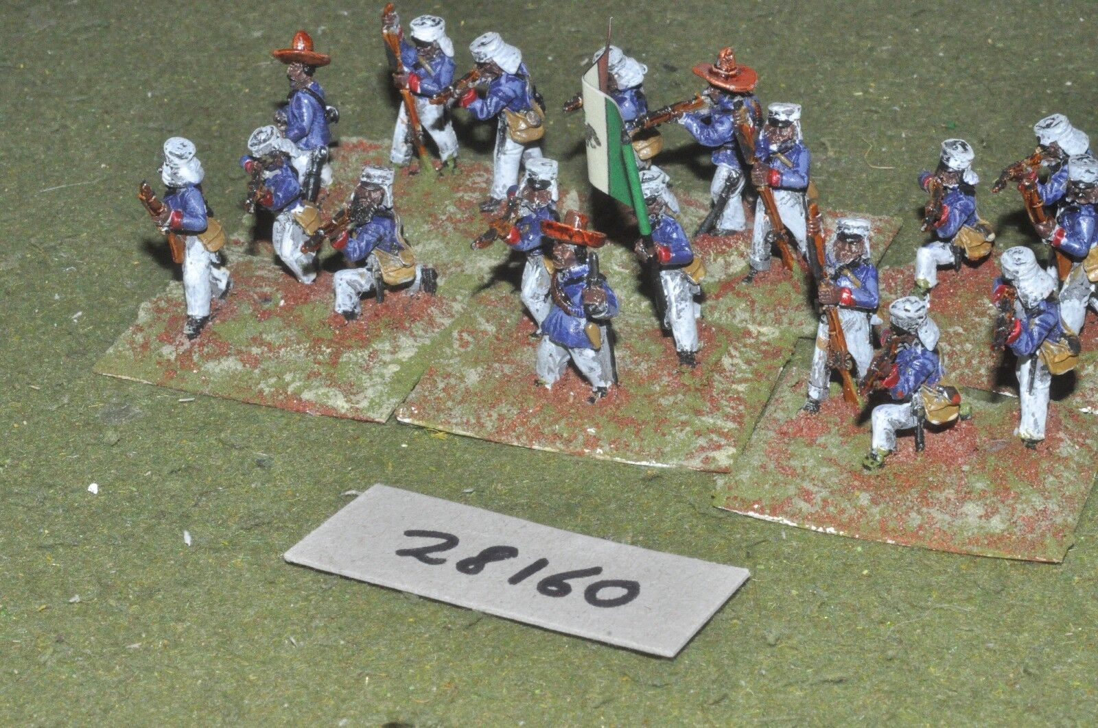 25mm colonial   mexican - maximillian adventure regulars 18 figs - inf (28160)