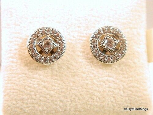 6b0339d99 NEW/TAGS AUTHENTIC PANDORA SILVER EARRINGS VINTAGE ALLURE #290721CZ