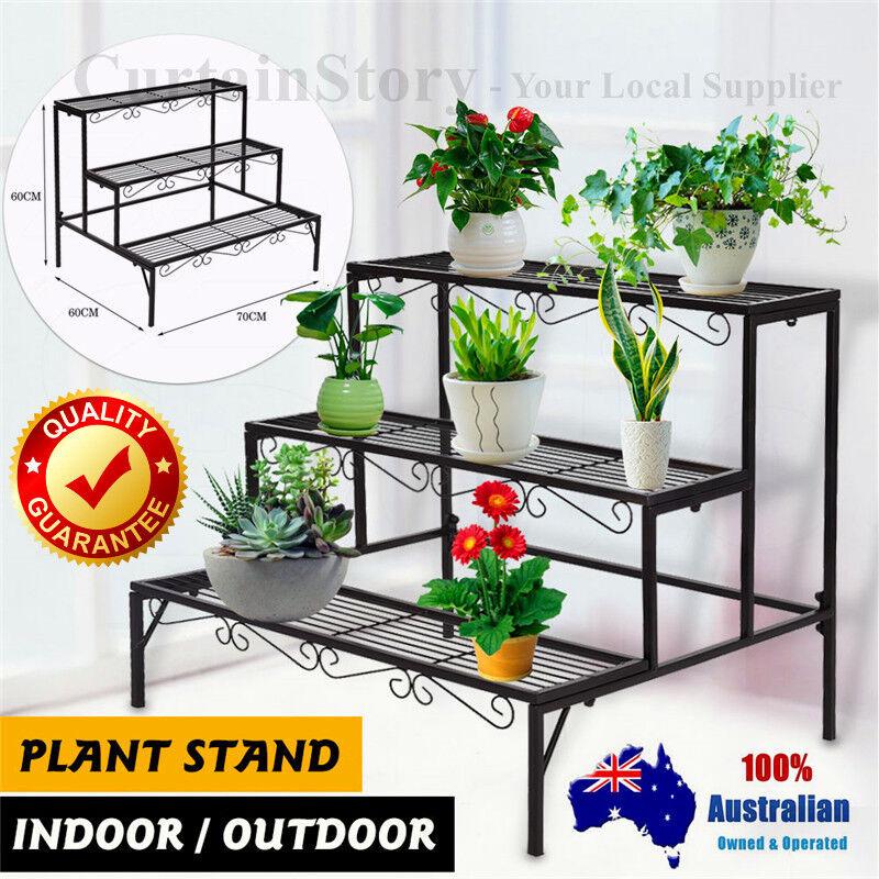 Indoor Outdoor Garden Metal Planter Flower Pots Stand 3