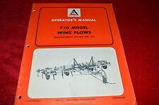 Allis Chalmers 710 Model Wing Plow Operator's Manual WGOH