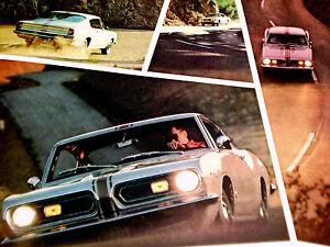 1967 PLYMOUTH BARRACUDA / ORIGINAL AD LOT-273/383 v8 engine