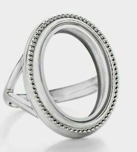 Origami Owl Twist Petite Locket Ring Size 5 Silver w/ Emerald ... | 300x270