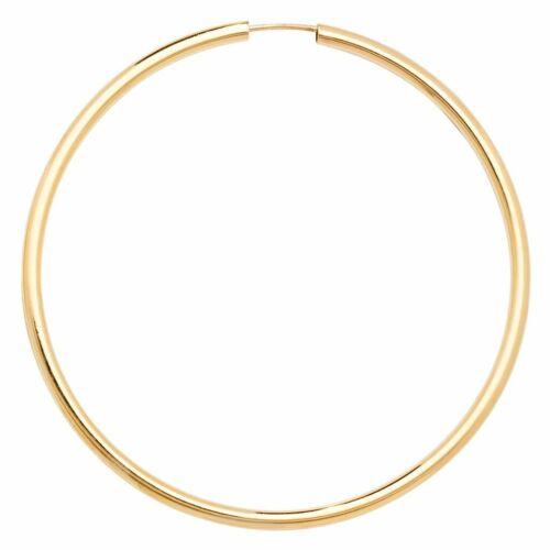 9ct Yellow Gold 45mm Sleepers Earrings