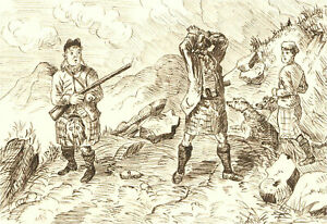 1866 Pen and Ink Drawing - Missed the Shot!