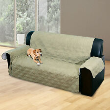 2 Seater Quilted Sofa Cover Protector Pet Mat Pad Sofa Throw Slipcover Surefit