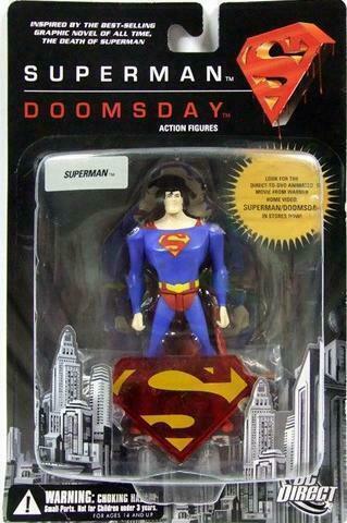 Dc Direct Superman Doomsday 2007 Complete Set Of 4 Action Figures