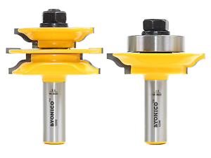 Yonico 12234 Rail and Stile Router Bit Set for Glass Doors with 1//2-Inch Shank