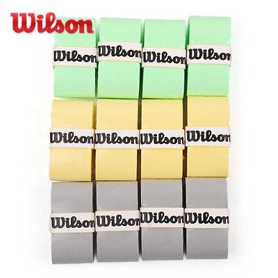 Wilson Tennis Pro Overgrip 3 Pack Gray Comfort Badminton Tape Racket WRZ4014SI