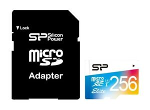 256GB-Silicon-Power-Elite-microSDXC-CL10-UHS-1-85MB-sec-Memory-Card-With-Adapter
