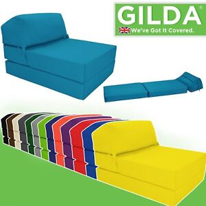 Details About Jazz Chair Single Bed Z Guest Fold Out Futon Sofa Chairbed Matress Foam Gilda