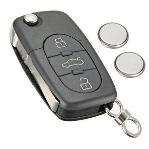 Button Remote Key Fob Case Service Kit Battery Logo For Audi - Audi car key battery