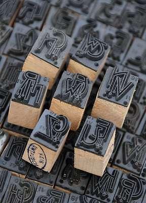 Wäschestempel Jugendstil Monogramm Initial Schablone Letter über 240 Z. Auswahl