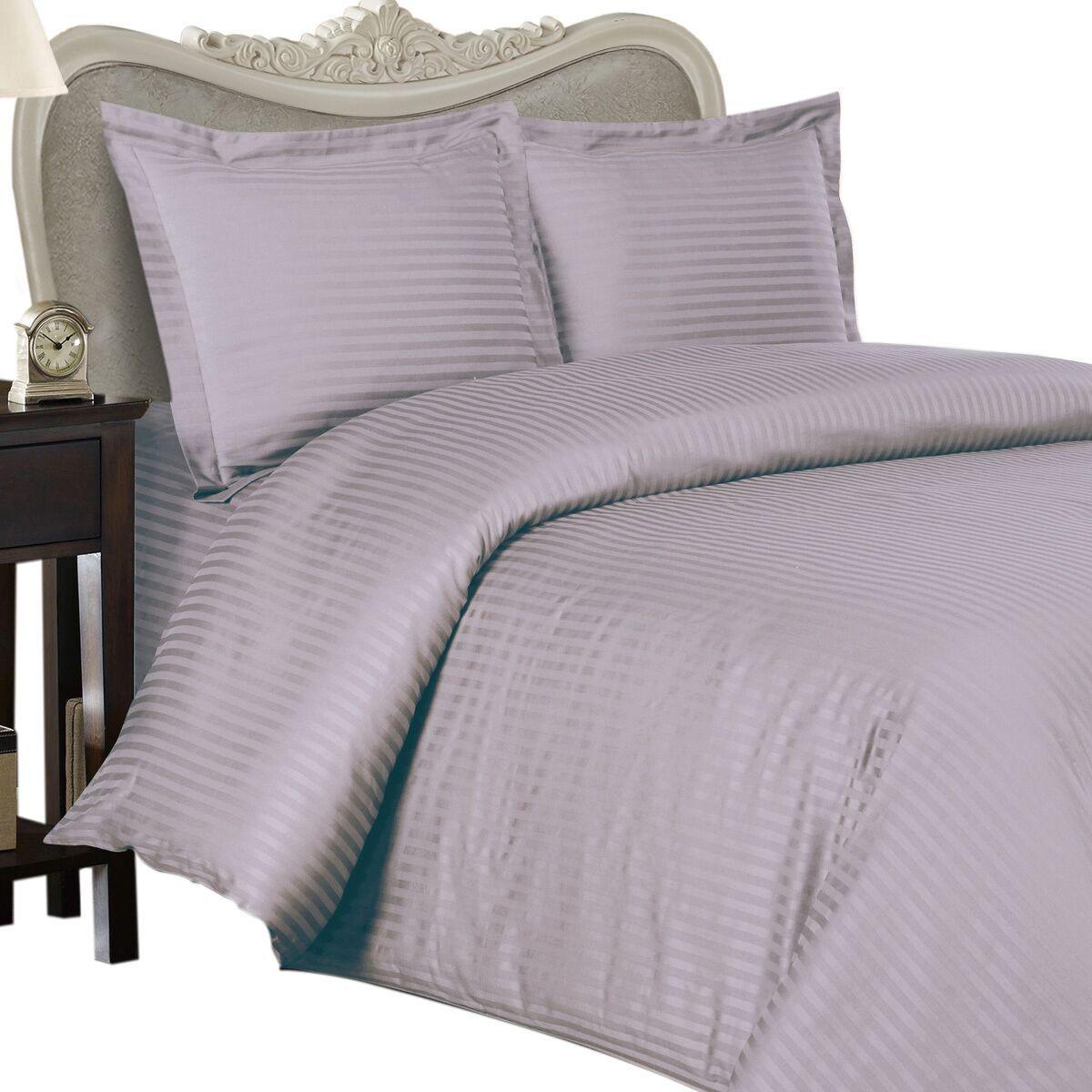 1200 Thread Count 100% Egyptian Cotton Sheet Set 1200 TC KING Lavender Stripe
