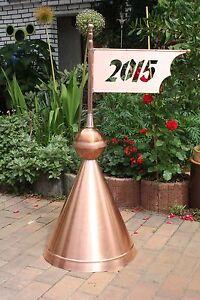 Kupfer wetterfahne windspiel dachschmuck turmspitze dachspitze dekoration ebay - Dekoration kupfer ...