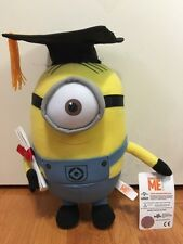 "Despicable Me 2  ""MINION STUART Graduation 10"" Plush Great Gift ! HOT HOT"