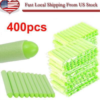 Green 400PCS Refill Bullet Darts for Nerf N-strike Elite Series Blasters Toy Gun