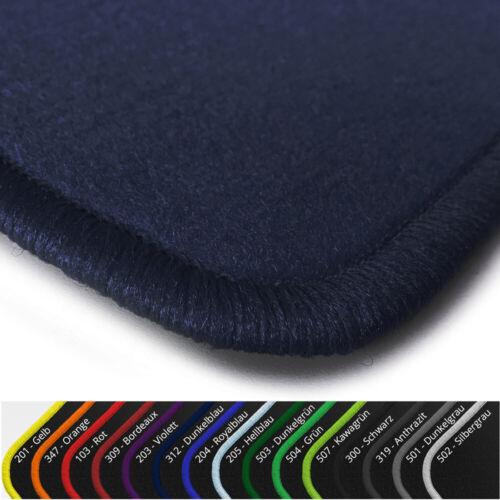 Velours Fußmatten Dunkelblau Randfarbe wählbar  für Mitsubishi ASX ab Bj 2010
