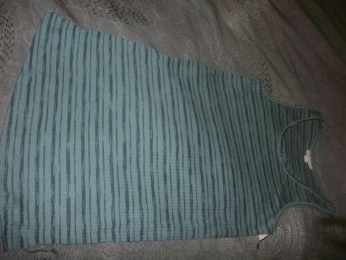 NEW Liz Lange Maternity Long Tank Top Soft Shirt size XXL Green stripes B5