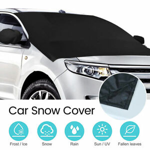 MATCC Car Windscreen Snow Cover Windshield Cover Ice Frost Sun UV Dust Water Resistent Windscreen Frost Protector Ice Removal Fits Most of Car