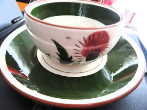 Vintage-Stangl-Pottery-Thistle-Cup-amp-Saucer-Dinnerware