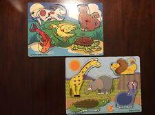 Melissa & Doug Wooden Puzzles Lot Of 2 Animals Kids Toys