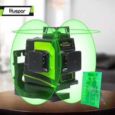 12 Lines 360/° 3D Green Red l/áser Level Self Leveling Horizontal /& Vertical Rotary Cross Measure Tool Outdoor /& Indoor Measure Waterproof USA STOCK